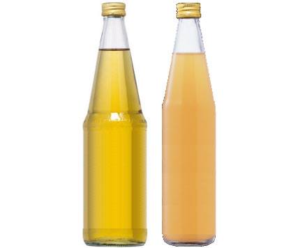 Figure 10: differences between clear and natural apple juice