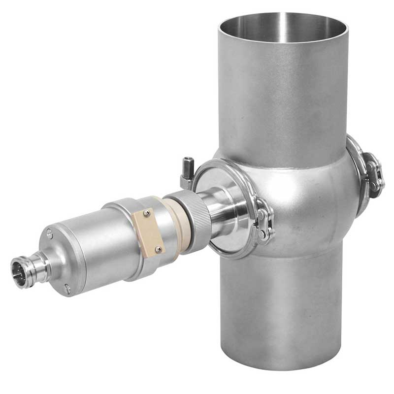AS16-F mounted to a varivent housing commonly used in breweries