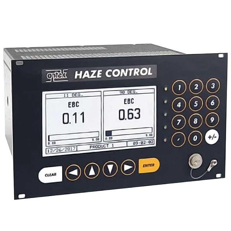 Haze Control Converter monitoring both 11° and 90° EBC measurements in a brewery